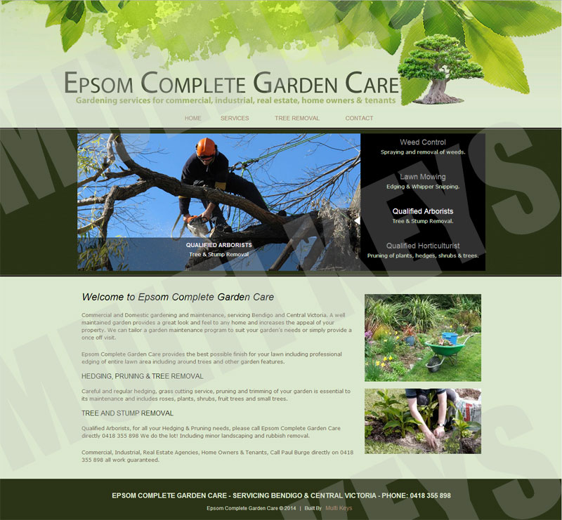 Multi keys internet services web sites web for Complete garden services